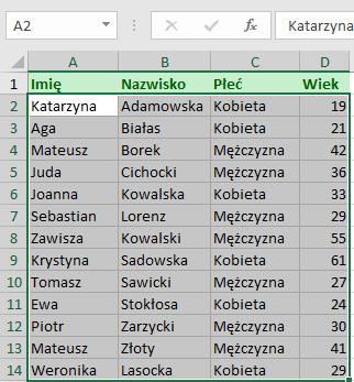 Kolorowanie Wybranych Wierszy Excel Formuła