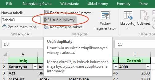 Usuwanie Duplikatów Excel