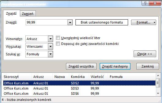 Zamiana Podmiana Tekstu Wartości W Excel Funkcje